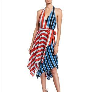 Alice + Olivia Canton striped halter dress